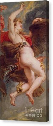 The Rape Of Ganymede Canvas Print by Rubens
