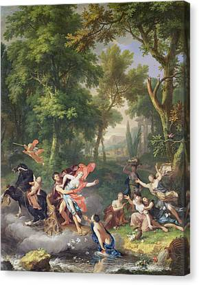 The Rape Of Proserpine Canvas Print by Jan van Huysum