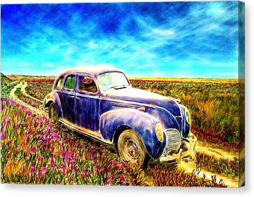 The Rare And Elusive Lincoln Zephyr Canvas Print by Ric Darrell