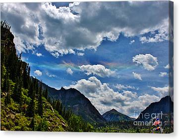 The Rare Phenomena Rainbows Canvas Print by Janice Rae Pariza