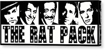 The Rat Pack Canvas Print by David G Paul