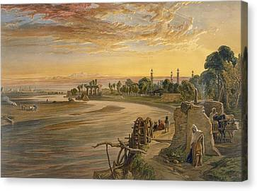 The Ravee River, From India Ancient Canvas Print