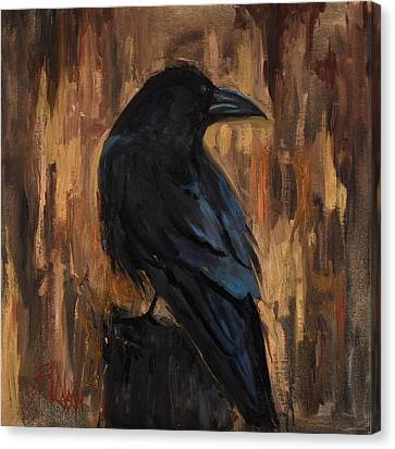 The Raven Canvas Print by Billie Colson