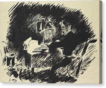 Ghost Story Canvas Print - The Raven by Edouard Manet