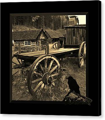 The Raven Flies Straight Canvas Print by Barbara St Jean