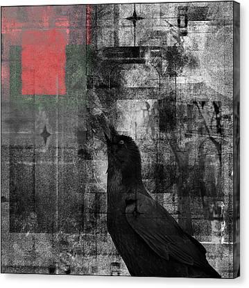 The Raven - Nevermore Canvas Print by Douglas MooreZart