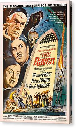 The Raven Vintage Movie Poster Canvas Print
