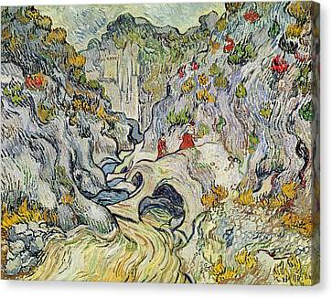 The Ravine Of The Peyroulets Canvas Print by Vincent van Gogh