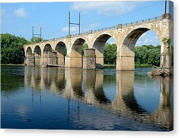 The Reading Csx Railroad Bridge At Ewing Canvas Print