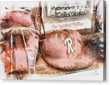 The Reading Phillies Canvas Print by Trish Tritz