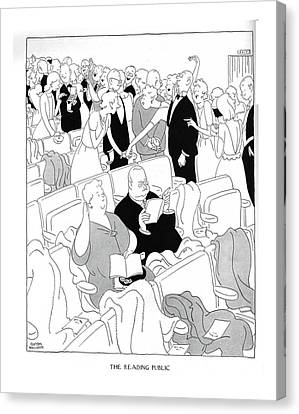 The Reading Public Equally Appropriate For Wear Canvas Print