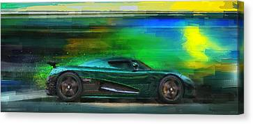 The Real Green Monster Canvas Print by Alan Greene