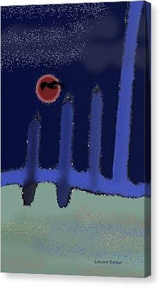 The Reappearance Of Sound Canvas Print by Lenore Senior