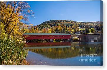 The Rebuilt Taftsville Covered Bridge Canvas Print