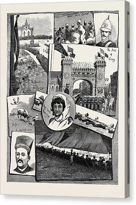 The Recent Campaign In Egypt Festivities At Bombay Canvas Print by Egyptian School