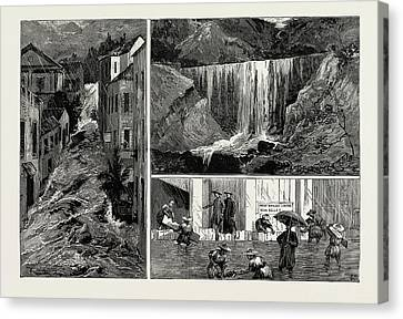 The Recent Disastrous Floods At Hong Kong Canvas Print