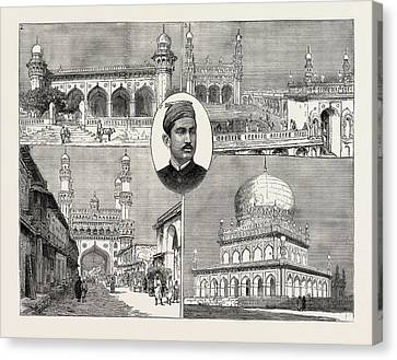 The Recent Installation Of The Nizam Of Hyderabad India 1 Canvas Print