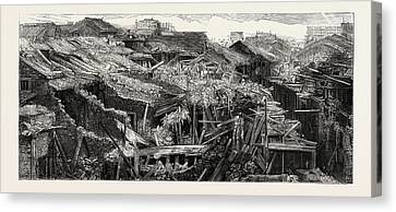The Recent Tornado In China Part Of The Native City Canvas Print