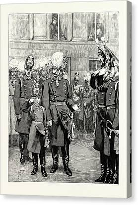 The Reception Of The Crown Prince Of Prussia Into The First Canvas Print by German School