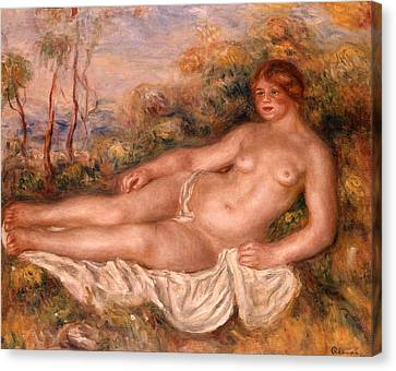 The Reclining Bather 1906 Canvas Print by Pierre Auguste Renoir