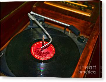 The Record Player Canvas Print by Paul Ward