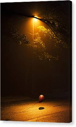 Lamp Post Canvas Print - The Red Balloon by Svetlana Sewell