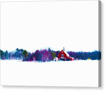 The Red Barn 2 Canvas Print