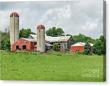 The Red Barn Canvas Print by Brenda Brown