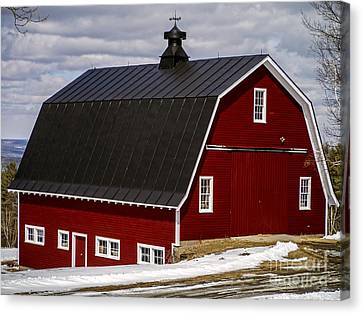 The Red Barn Canvas Print by Edward Fielding