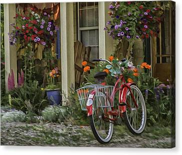 The Red Bike Canvas Print by Kristal Kraft