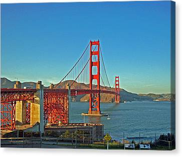 The Red Bridge Canvas Print by Mike Podhorzer