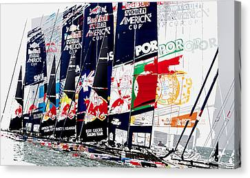 The Red Bull Youth Americas Cup The Start Canvas Print by John Mangino