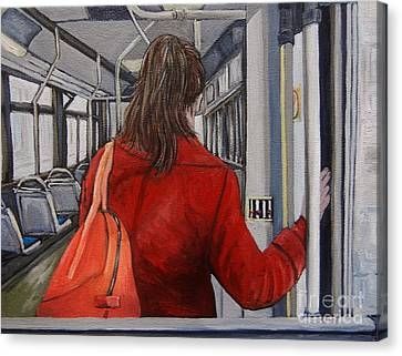 The Red Coat Canvas Print by Reb Frost