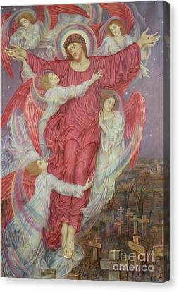 The Red Cross Canvas Print by Evelyn De Morgan