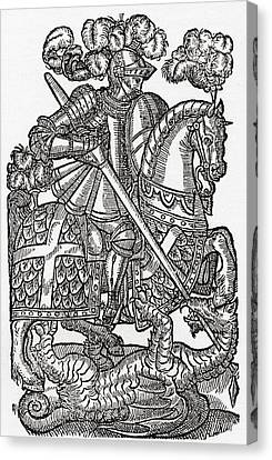 The Red Cross Knight, St. George And Canvas Print by Ken Welsh
