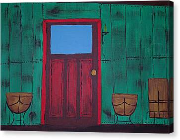 The Red Door Canvas Print by Keith Nichols