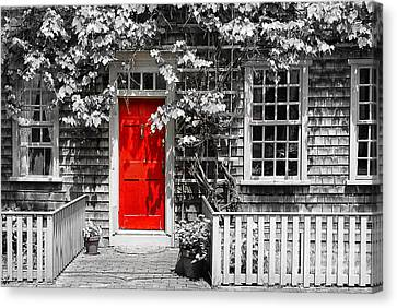 The Red Door Canvas Print by Sabine Jacobs