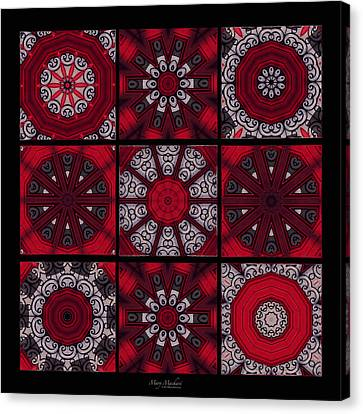 The Red Door Tiles Canvas Print by Mary Machare