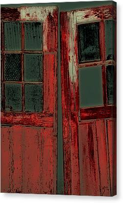 The Red Doors Canvas Print by Karol Livote