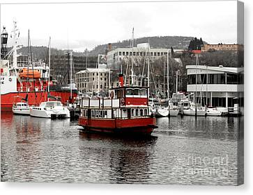 The Red Ferry Canvas Print