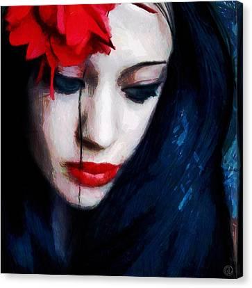 The Red Flower Canvas Print by Gun Legler
