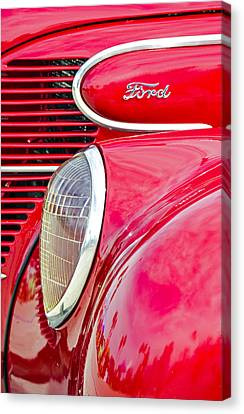 The Red Ford Canvas Print