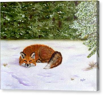 The Red Fox Of Winter Canvas Print