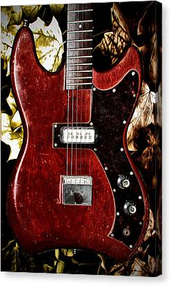 The Red Guitar Blues Canvas Print by Bill Cannon
