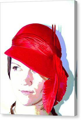 The Red Hat II Canvas Print by  Andrea Lazar