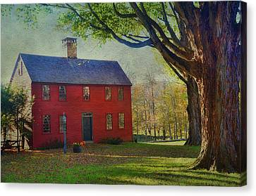 Canvas Print featuring the photograph The Red House by Barbara Manis