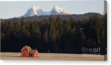 The Red House Canvas Print by Chris Dutton