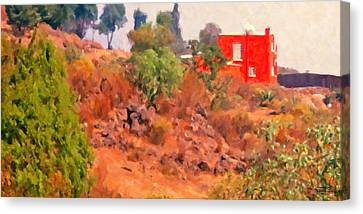The Red House Canvas Print by Spyder Webb