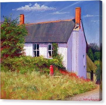 The Red Milk Churn, 2003 Pastel On Paper Canvas Print by Anthony Rule