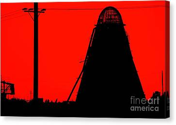 The Red Mill Canvas Print by Jessica Shelton